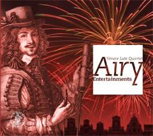 CD Cover: 17th century man with background of fireworks