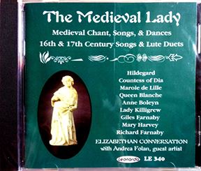CD Cover: Statue of medieval lady on green background