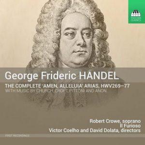 George Frideric Handel, the complete 'Amen,' 'Alleluia' arias, HWV269-77, Il Furioso CD Cover